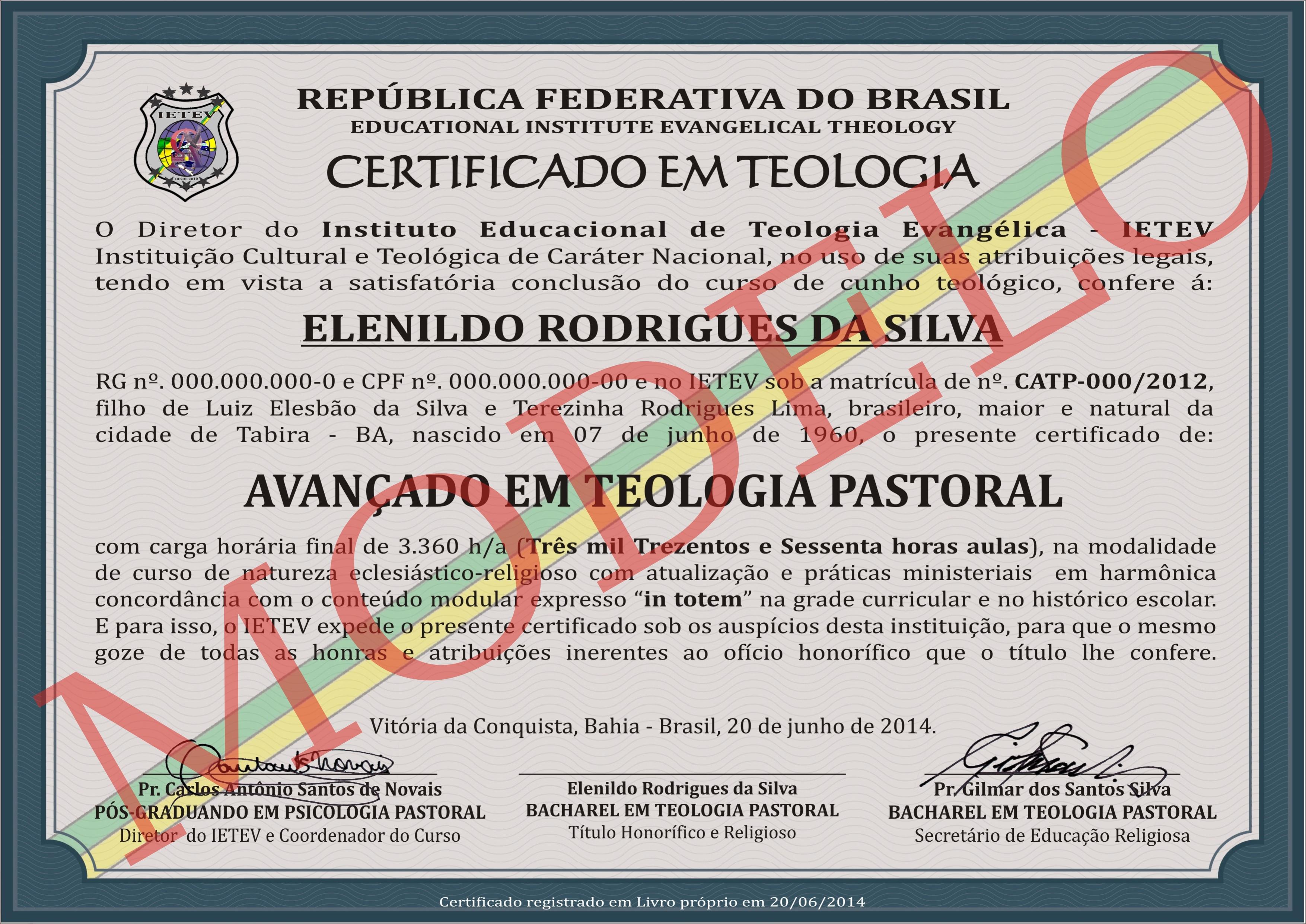 CURSO AVANÇADO EM TEOLOGIA PASTORAL