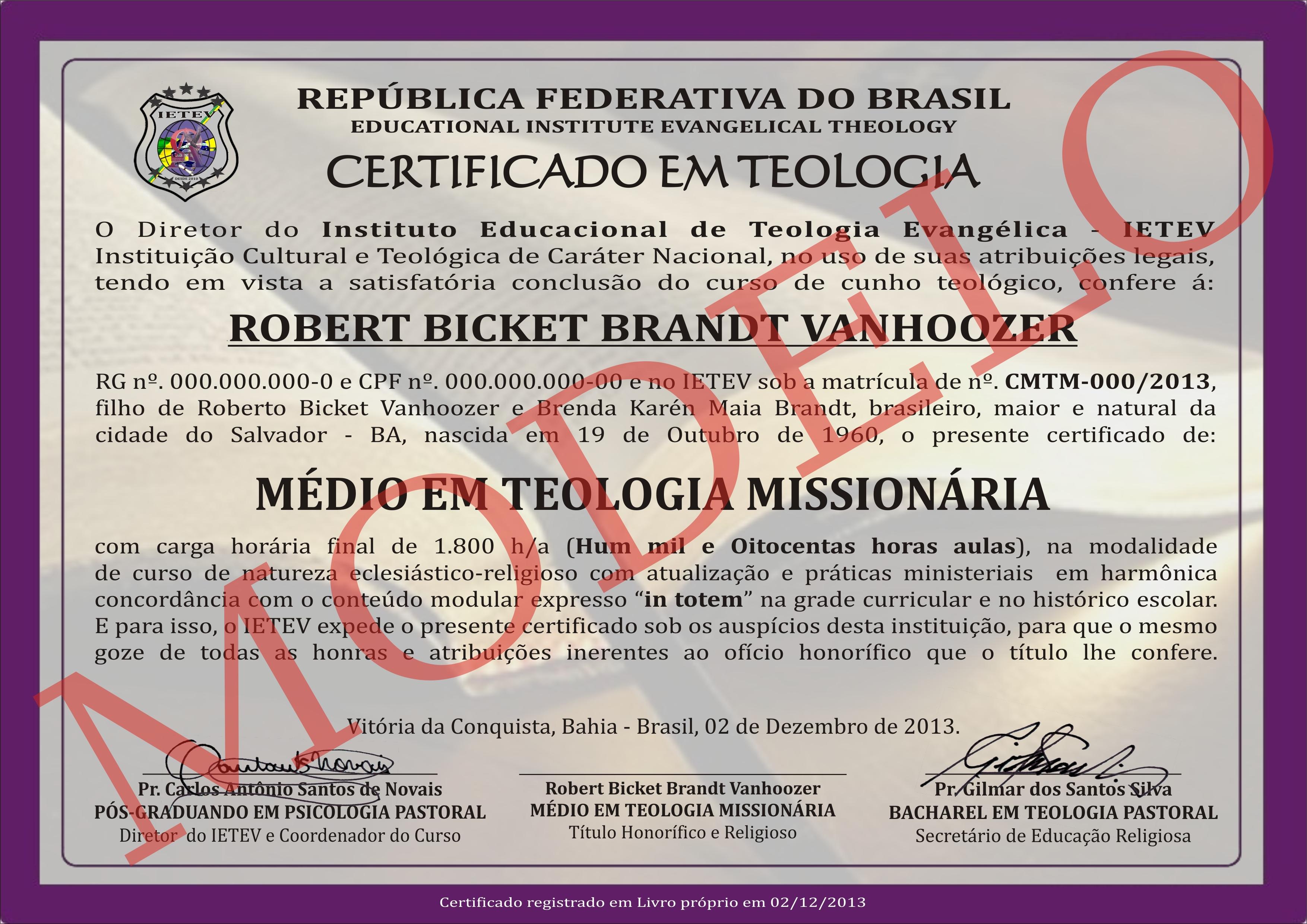 MÉDIO EM TEOLOGIA PASTORAL - MISSIOLOGIA