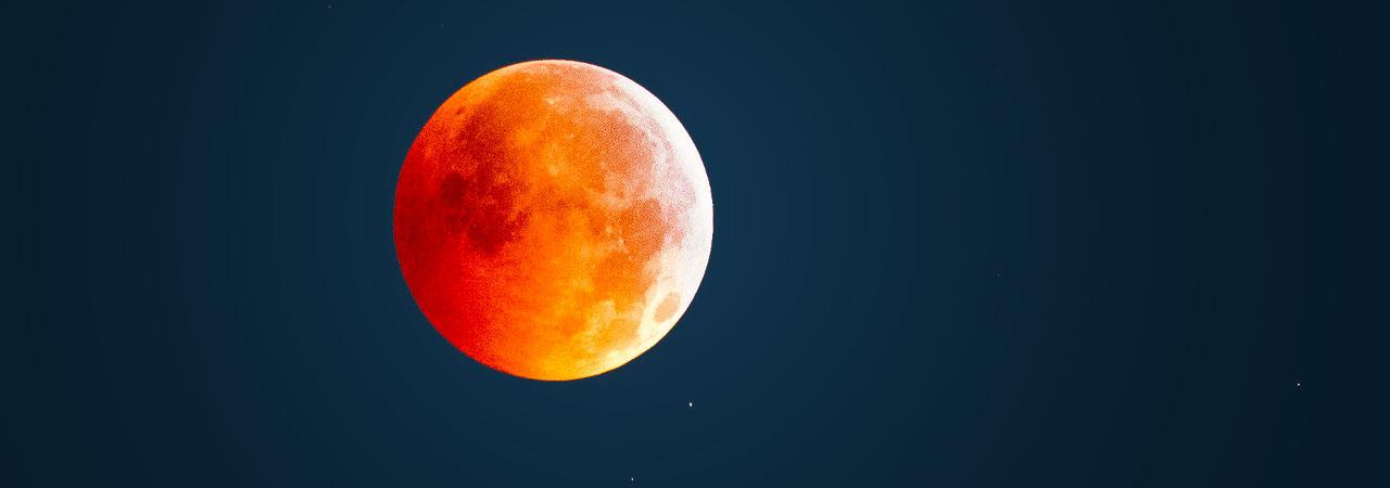 imagem da lua de sangue