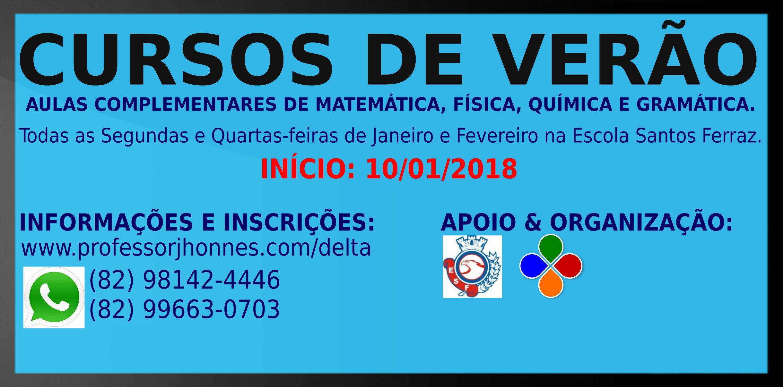 CURSOS DE VERÃO 2017